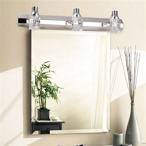 modern crystal mirror bathroom vanity light  wall