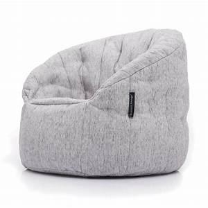 Butterfly, Sofa, White, Bean, Bag, Premium, Natural, Interior, Fabric, Bean, Bags