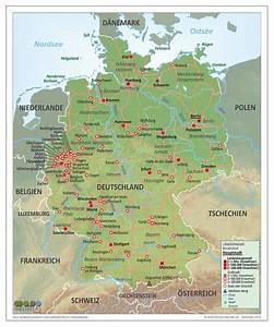 Deutschland Physische Karte : landkarte von deutschland weltatlas ~ Watch28wear.com Haus und Dekorationen