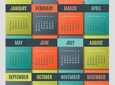 Calendarios 2016 Coloridos para Descargar e Imprimir Jumabu