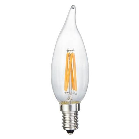 energy saving 6 watt led filament candelabra light bulb