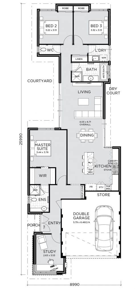 element versatile home purposely designed narrow lot living step doub
