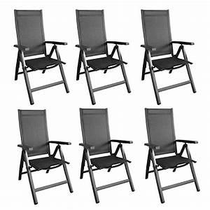 Gartenstühle Alu Klappbar : 6er set alu hochlehner klappstuhl klappsessel gartenstuhl ~ Lateststills.com Haus und Dekorationen