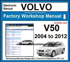 service and repair manuals 2009 volvo v50 parking system volvo v50 workshop repair manual