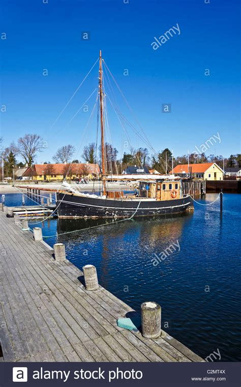 Boat Harbour Denmark Fishing by Roervig Harbour In North Sealand Denmark With Old Fishing