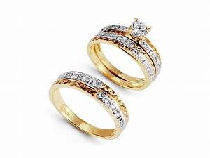 luxury engagement ring sets for her With wedding rings for him
