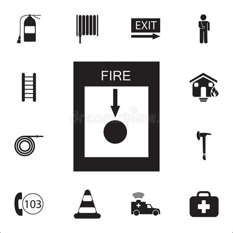symbol fire switch safety symbol sign  white background