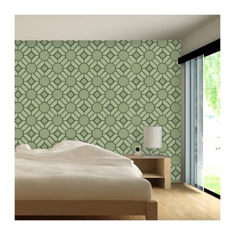 Decor And More by Wall Stencil Large Geometric Pattern Geoffrey For Wall