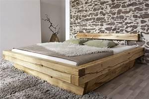 200 X 200 Cm Bett : sam balkenbett jakob mit schubk sten holzbett 200x200 cm ~ Indierocktalk.com Haus und Dekorationen