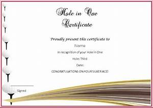 adorable golf certificates for professional players free With free hole in one certificate template