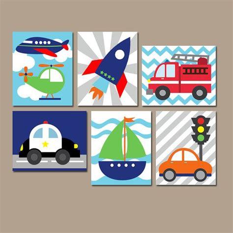 Wandbilder Kinderzimmer Junge by Transportation Wall Canvas Or Prints Boy Nursery By
