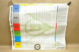 Vtg 1988 Dunlop Tire Application Chart Guide Poster Bmw