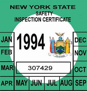 Picture of 2015 nys inspection sticker kamos sticker for Kitchen colors with white cabinets with new york state inspection stickers