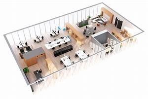 Premium, Office, 3d, Floor, Plan