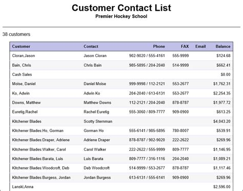 regularly email yourself the quickbooks customer contact list