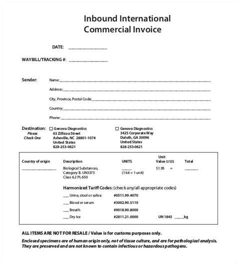 commercial invoice  customs purposes  apcc