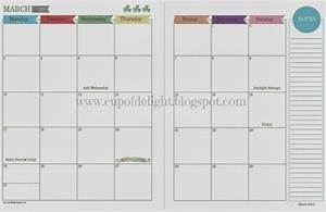 cup of delight 2014 monthly and daily calendars free With 2 month calendar template 2014