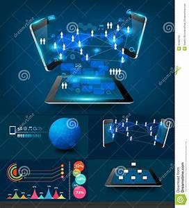 Vector Modern Infographics Business Technology Com Stock