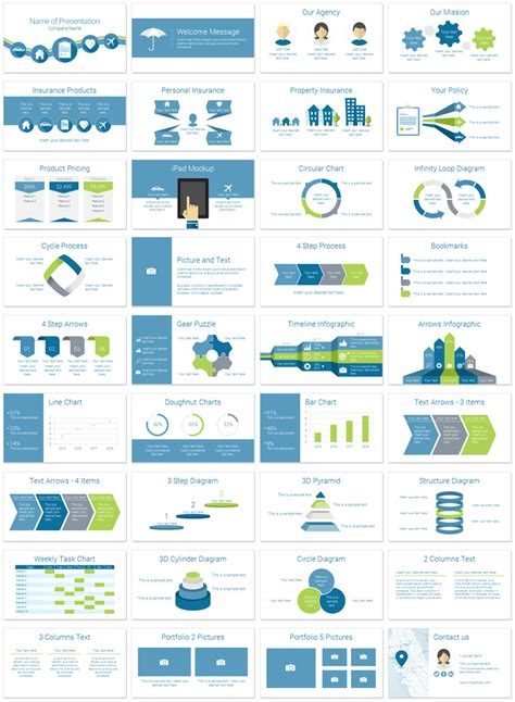 coworking templates ppt insurance powerpoint template theme pinterest