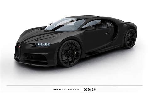 Bugatti All Black by Rendering Bugatti Chiron Dubai Car