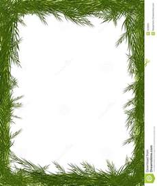 pine needle tree branch frame stock illustration image 3528891