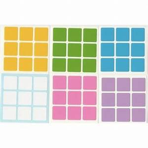 3x3 stickers light set magic cube replacement With 3x3 square labels