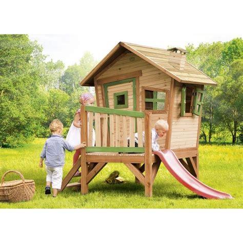 axi maisonnette enfant cabane en bois sur pilotis robin achat vente balan 231 oire portique