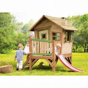 Maison En Bois Enfant : axi maisonnette enfant cabane en bois sur pilotis robin ~ Nature-et-papiers.com Idées de Décoration