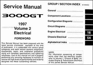 1997 Mitsubishi 3000gt Repair Shop Manual Original Set