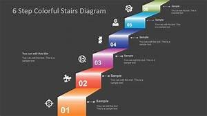 6 Step Colorful Stairs Diagram For Powerpoint