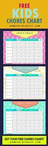 Cute Printable Chore Charts For Kindergarten Kids Home