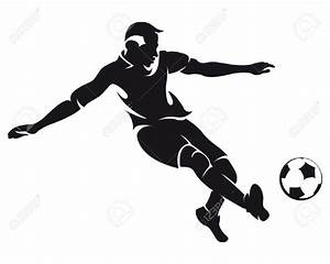 Football Player Clipart Black And White - Clipartion.com