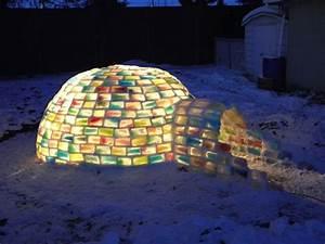Engineering Student Constructs Magical Rainbow Igloo