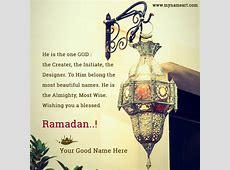 Ramadan Kareem 2017 Whatsapp Wishes Name Pics wishes