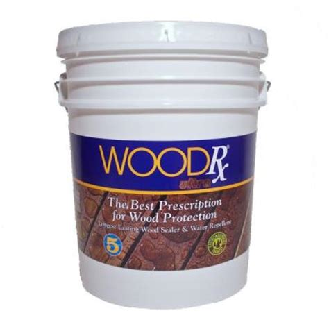 wood sealant home depot woodrx 5 gal ultra teak wood stain and sealer 625125 the home depot