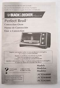 Black  U0026 Decker Home Perfect Broil Instruction Manual Guide