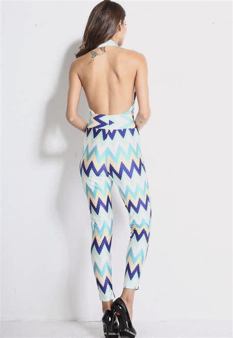 colorful jumpsuit colorful zig backless jumpsuit dress stage