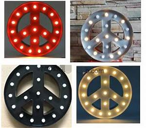 vintage metal led light up a z alphabet peace sign With light up letters wall decor