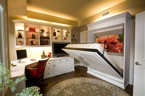 siena collection white home office with wall bed by valet
