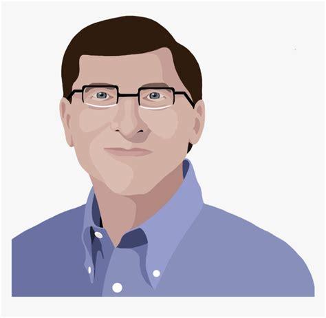 Bill Gates - Cartoon, HD Png Download - kindpng