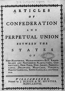 Articles of Confederation | Encyclopedia of Greater ...