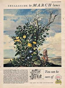 1954 Shell Guide To Lanes March Magazine Ad