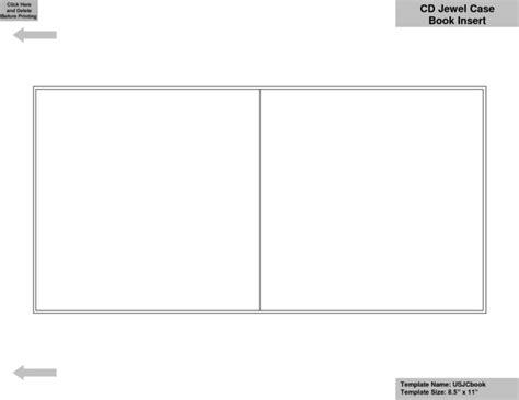 blank cddvd case insert template templates resume
