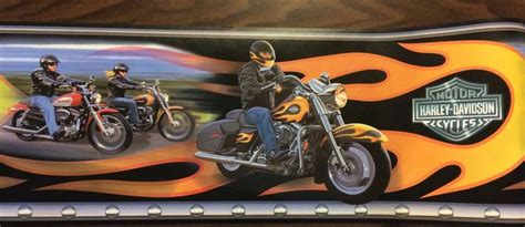 Harley Davidson Motorcycle Wallpaper Border Genuine