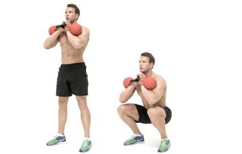 squat kettlebell goblet weight side exercise health