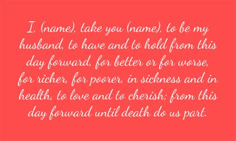 marriage ceremony words template business