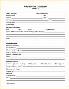 10 social work assessment template cashier resume for Social work psychosocial assessment template