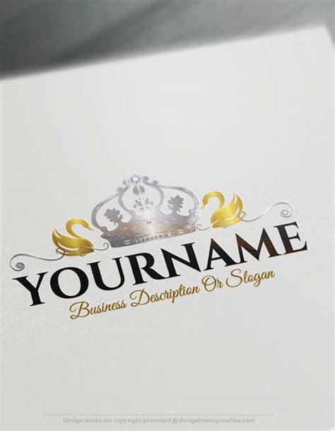 create  logo  swan crown logo design