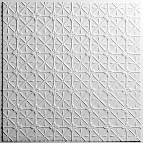 ceilume continental white ceiling tile 2 feet x 2 feet