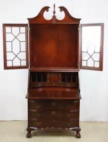 mahogany secretary desk with hutch top lot 68